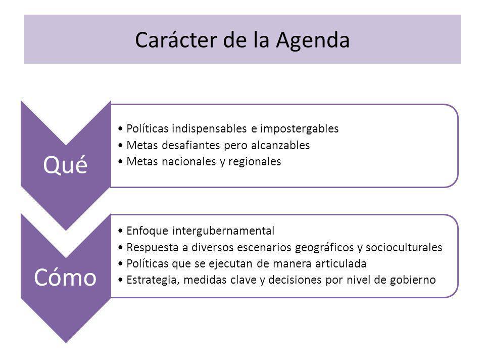 Qué Cómo Carácter de la Agenda