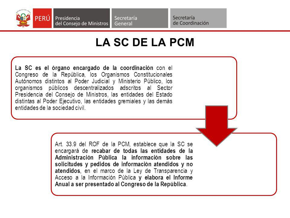 LA SC DE LA PCM