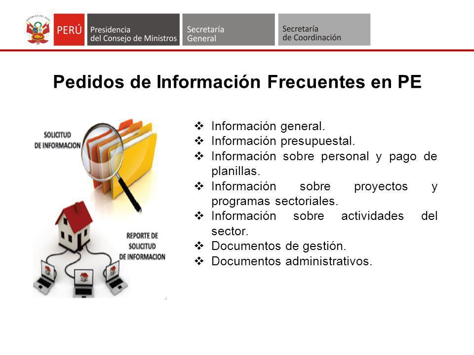 Pedidos de Información Frecuentes en PE