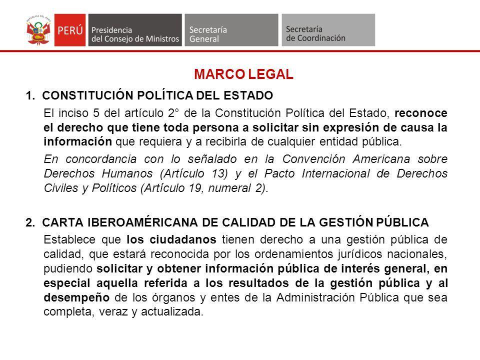 MARCO LEGAL 1. CONSTITUCIÓN POLÍTICA DEL ESTADO