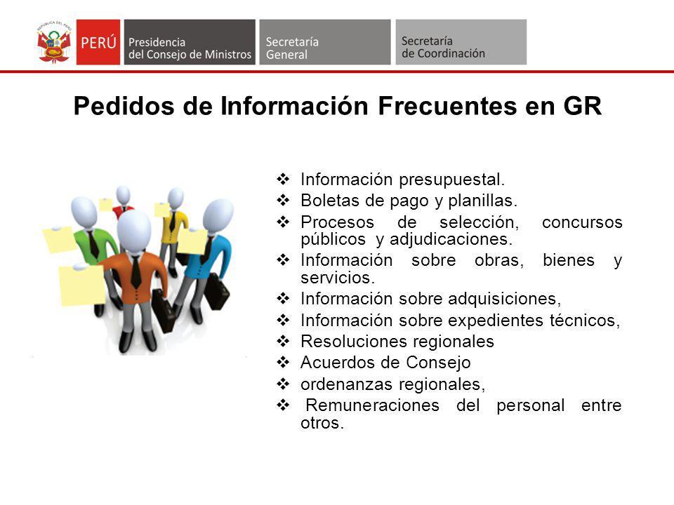 Pedidos de Información Frecuentes en GR