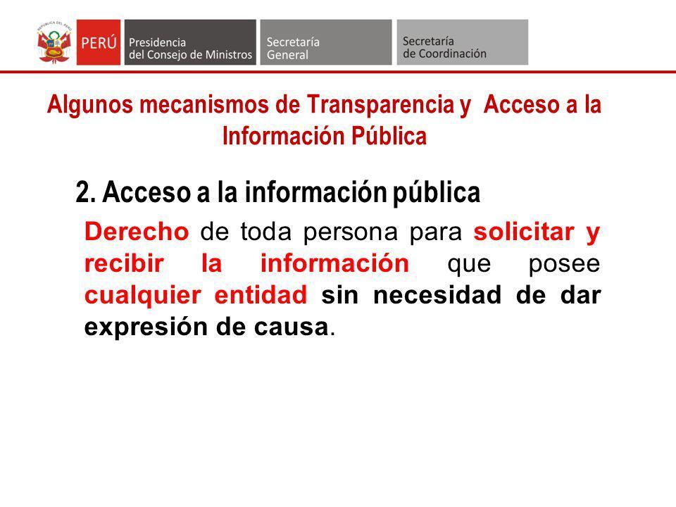 Algunos mecanismos de Transparencia y Acceso a la Información Pública