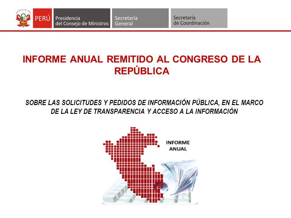 INFORME ANUAL REMITIDO AL CONGRESO DE LA REPÚBLICA