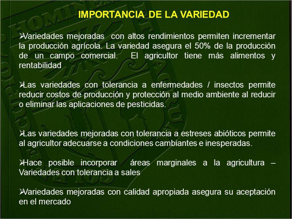 IMPORTANCIA DE LA VARIEDAD