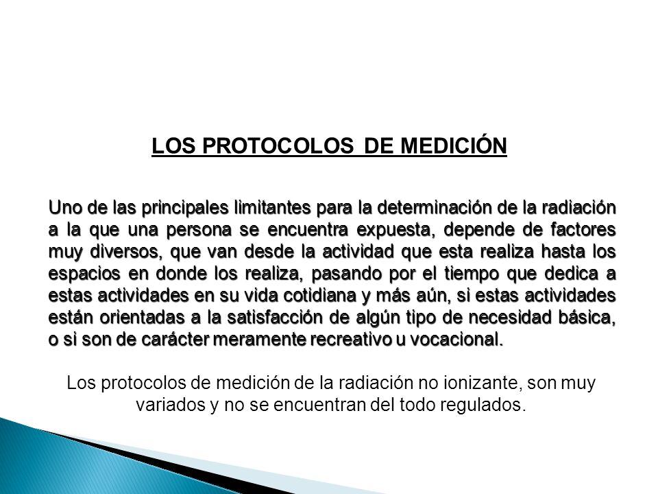 LOS PROTOCOLOS DE MEDICIÓN