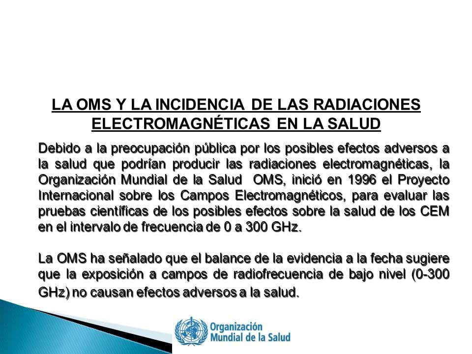 LA OMS Y LA INCIDENCIA DE LAS RADIACIONES ELECTROMAGNÉTICAS EN LA SALUD