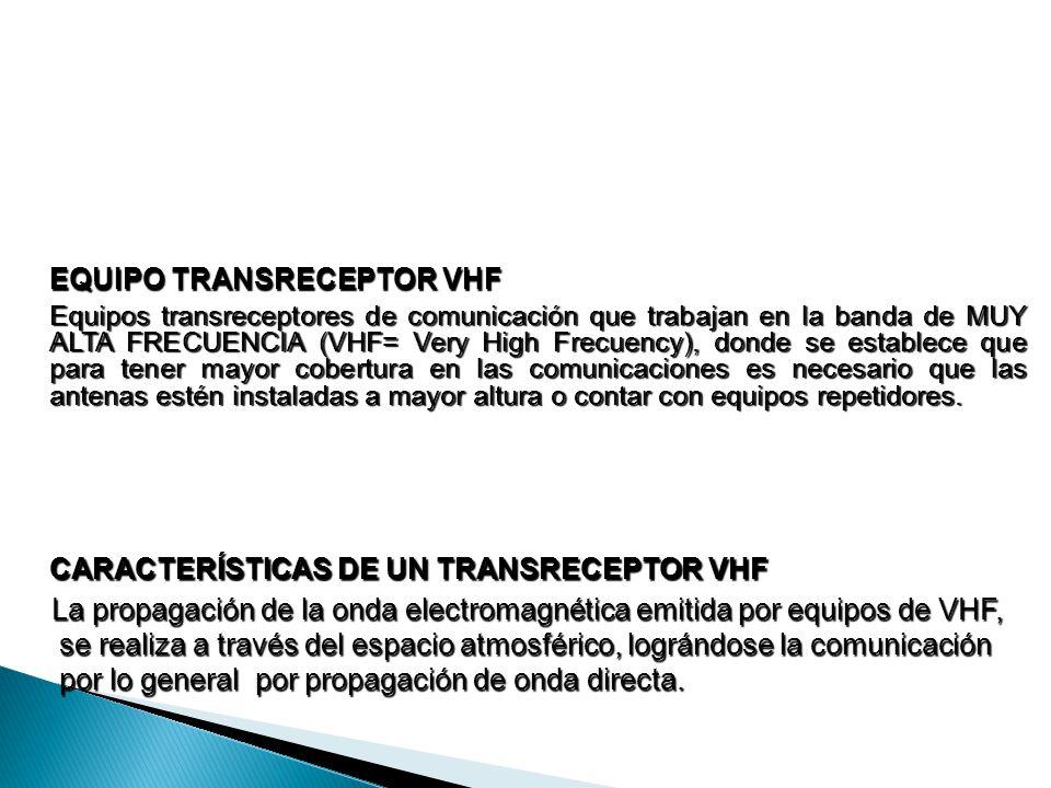 EQUIPO TRANSRECEPTOR VHF