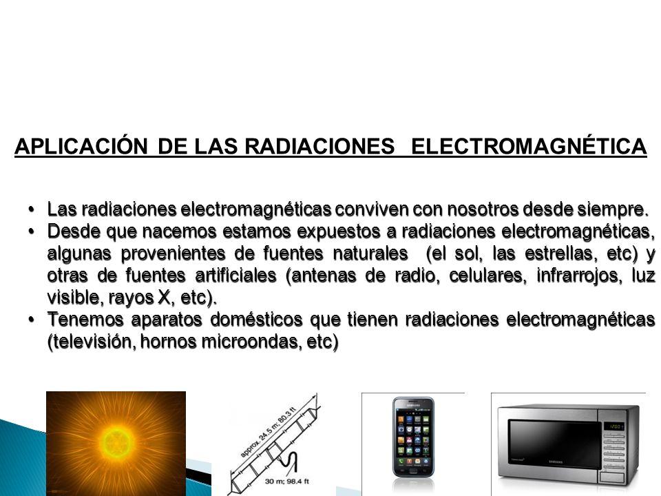 APLICACIÓN DE LAS RADIACIONES ELECTROMAGNÉTICA