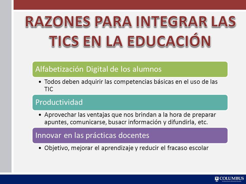 RAZONES PARA INTEGRAR LAS TICS EN LA EDUCACIÓN