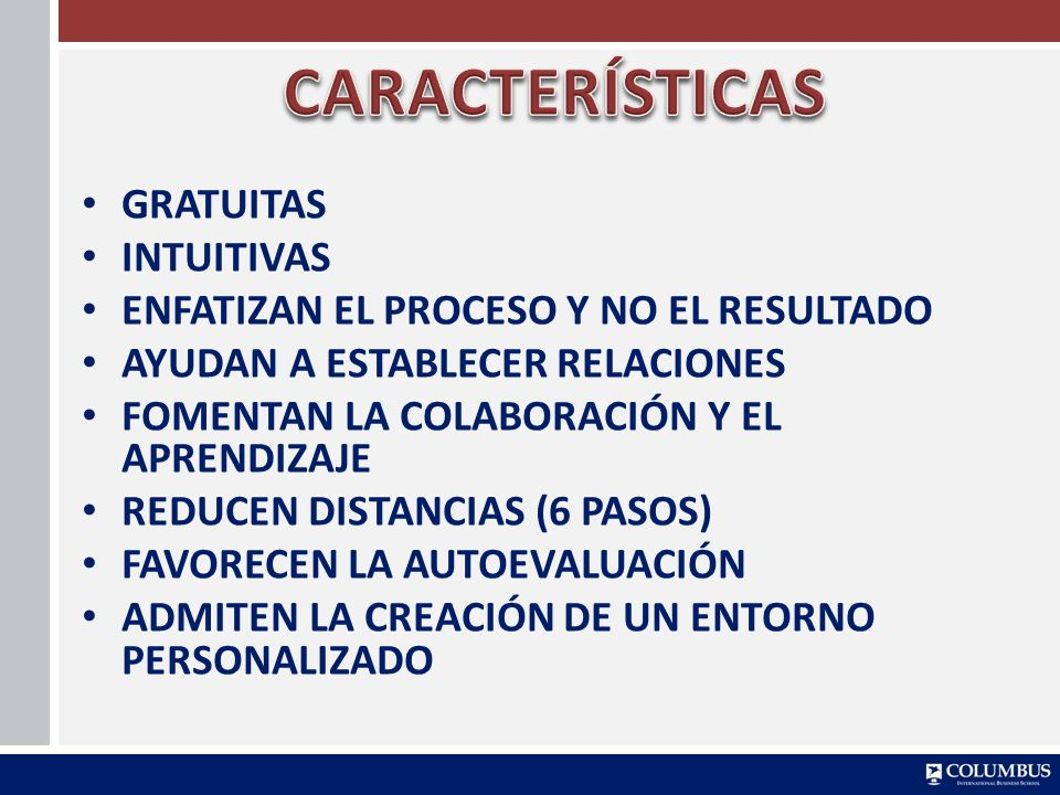 CARACTERÍSTICAS GRATUITAS INTUITIVAS