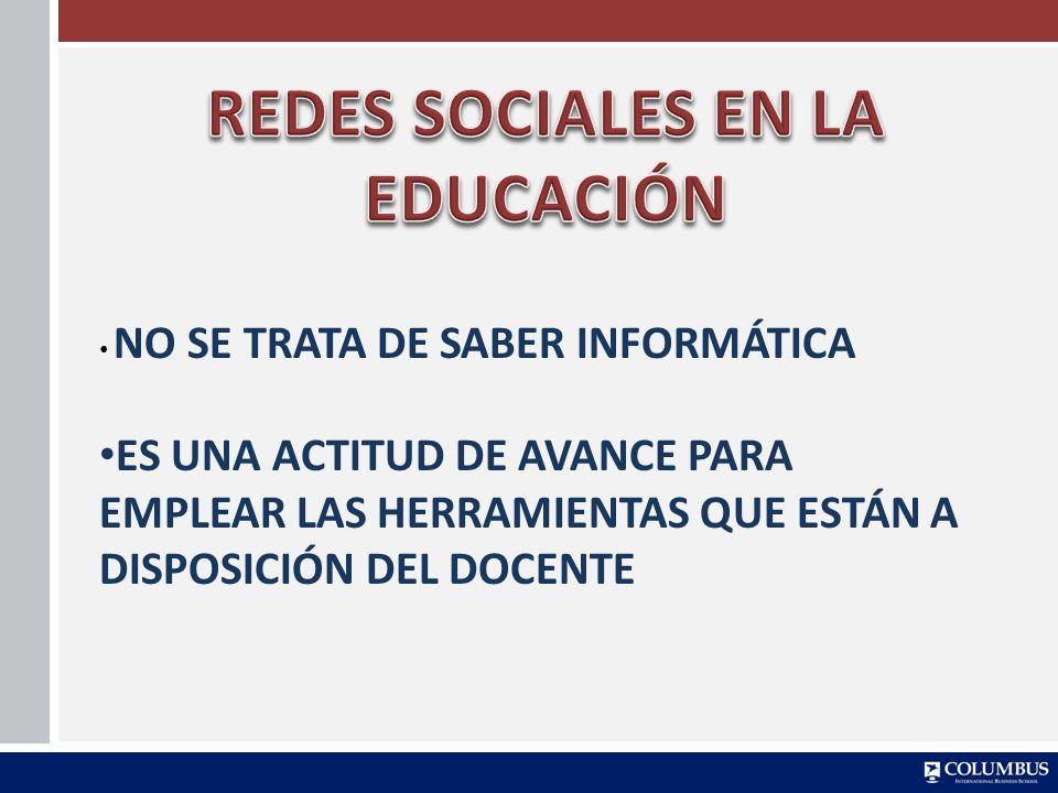 REDES SOCIALES EN LA EDUCACIÓN