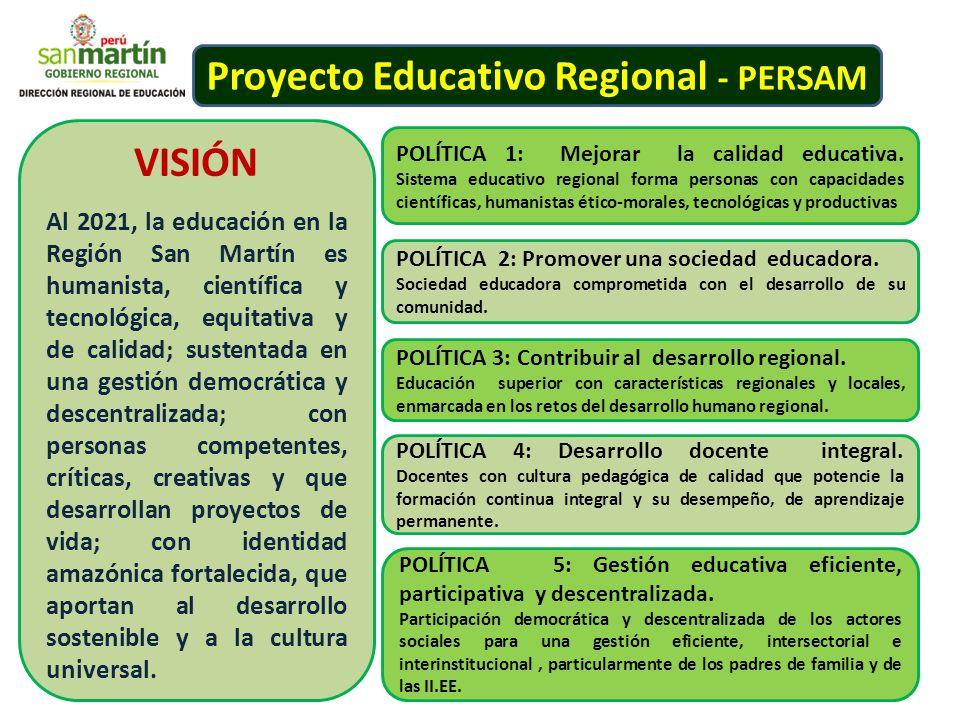 Proyecto Educativo Regional - PERSAM