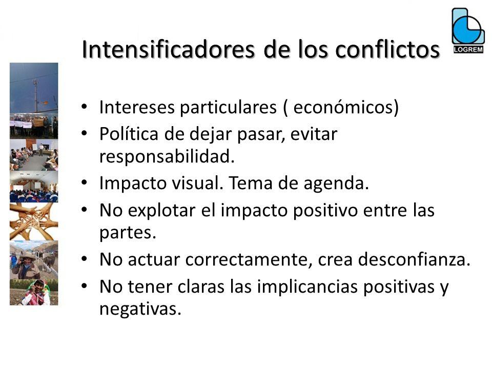 Intensificadores de los conflictos