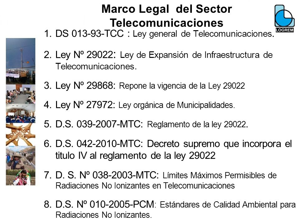 Marco Legal del Sector Telecomunicaciones