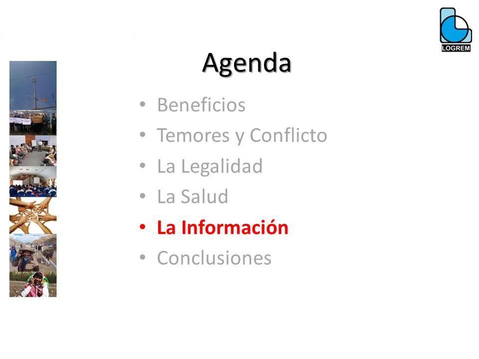 Agenda Beneficios Temores y Conflicto La Legalidad La Salud