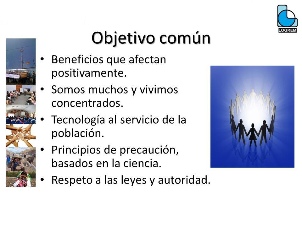 Objetivo común Beneficios que afectan positivamente.