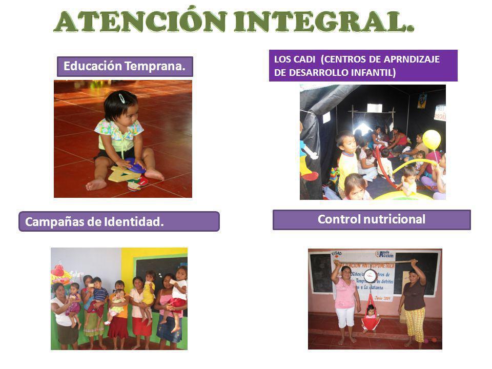 ATENCIÓN INTEGRAL. Educación Temprana. Campañas de Identidad.