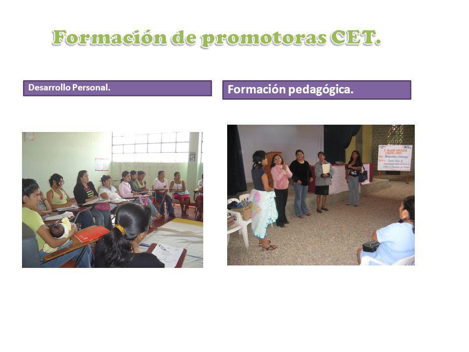 Formación de promotoras CET.