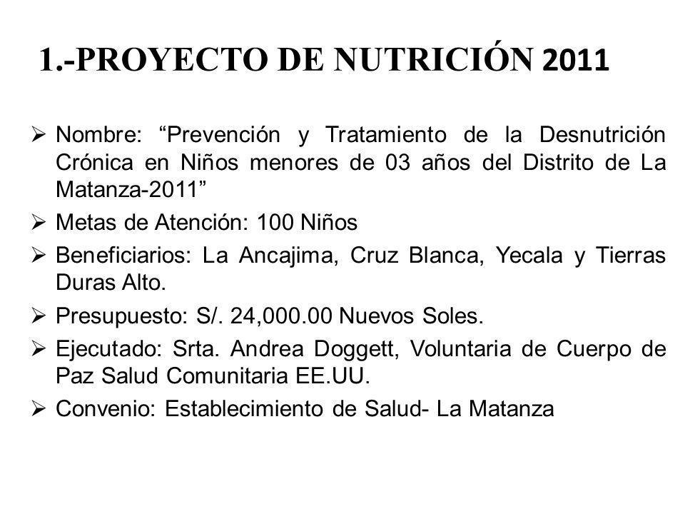 1.-PROYECTO DE NUTRICIÓN 2011