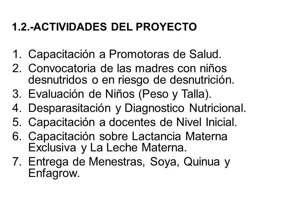 1.2.-ACTIVIDADES DEL PROYECTO