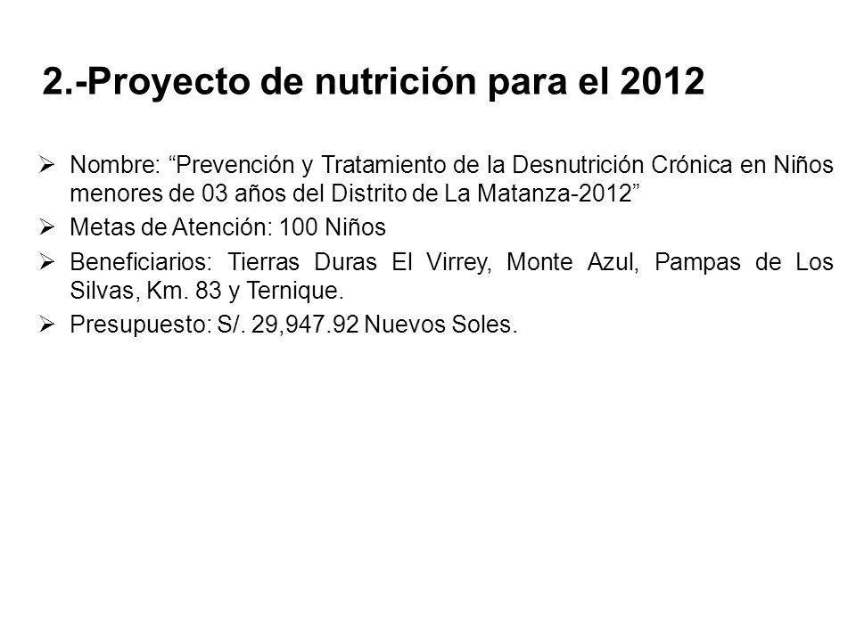 2.-Proyecto de nutrición para el 2012