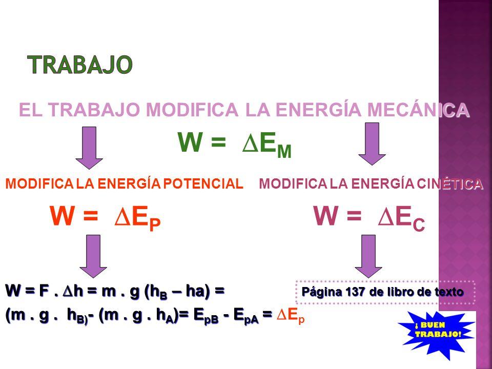 W = DEM W = DEP W = DEC TRABAJO