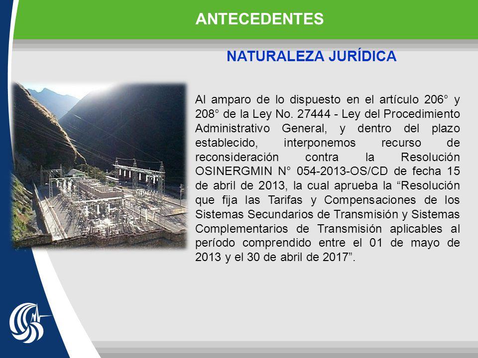 ANTECEDENTES NATURALEZA JURÍDICA
