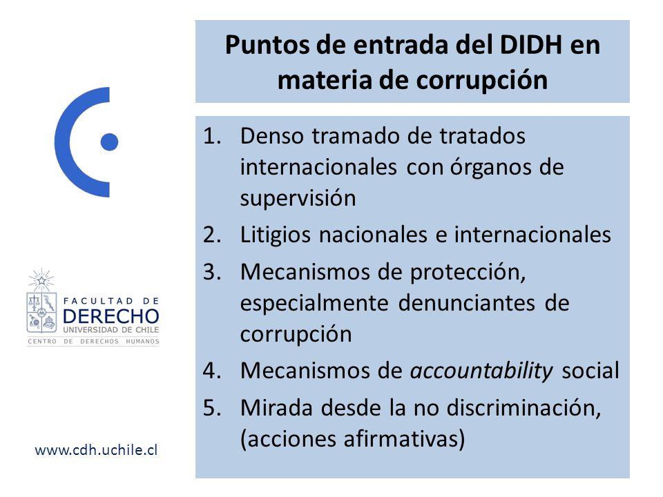 Puntos de entrada del DIDH en materia de corrupción