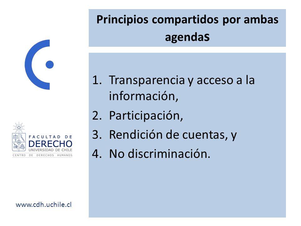 Principios compartidos por ambas agendas