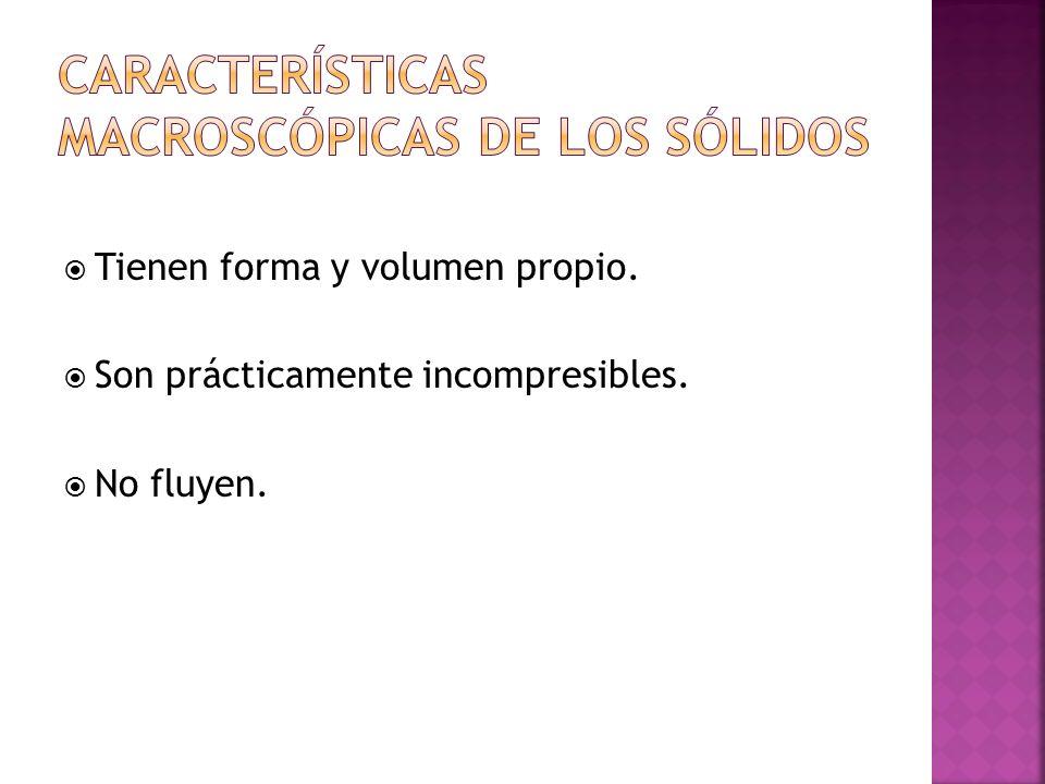 Características Macroscópicas de los Sólidos