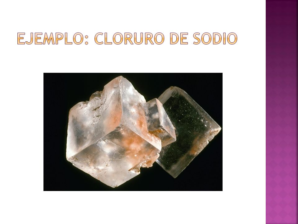 Ejemplo: Cloruro de Sodio
