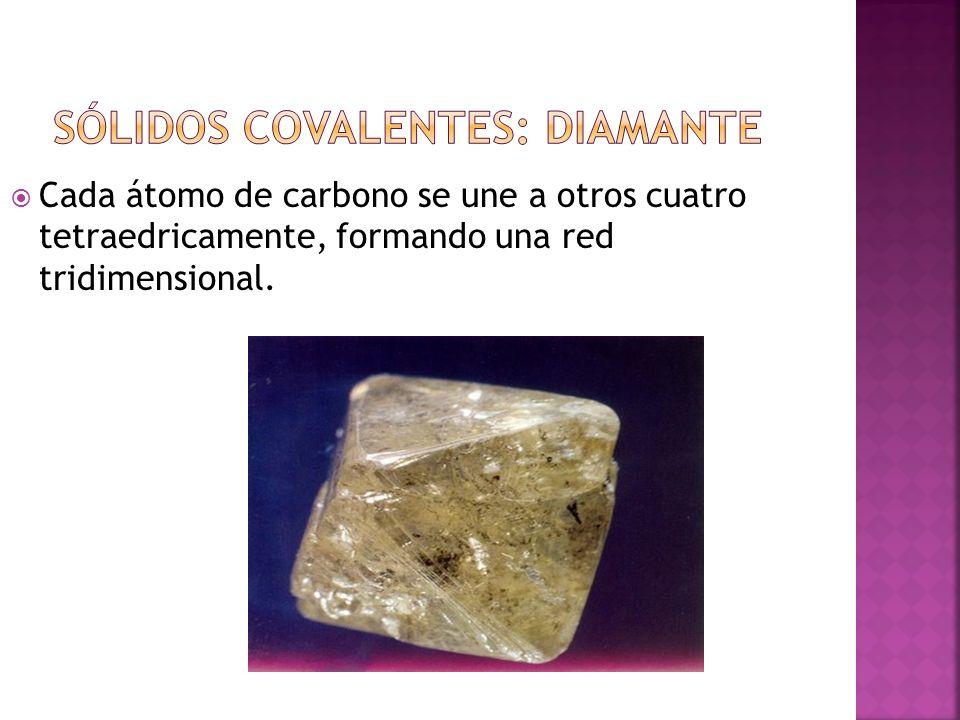 Sólidos covalentes: diamante