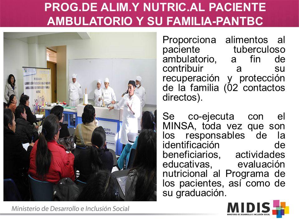 PROG.DE ALIM.Y NUTRIC.AL PACIENTE AMBULATORIO Y SU FAMILIA-PANTBC