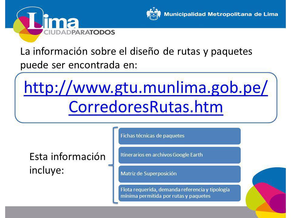 La información sobre el diseño de rutas y paquetes puede ser encontrada en: