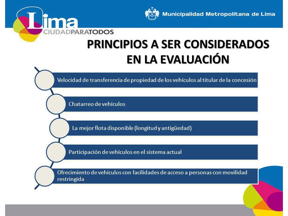 PRINCIPIOS A SER CONSIDERADOS EN LA EVALUACIÓN
