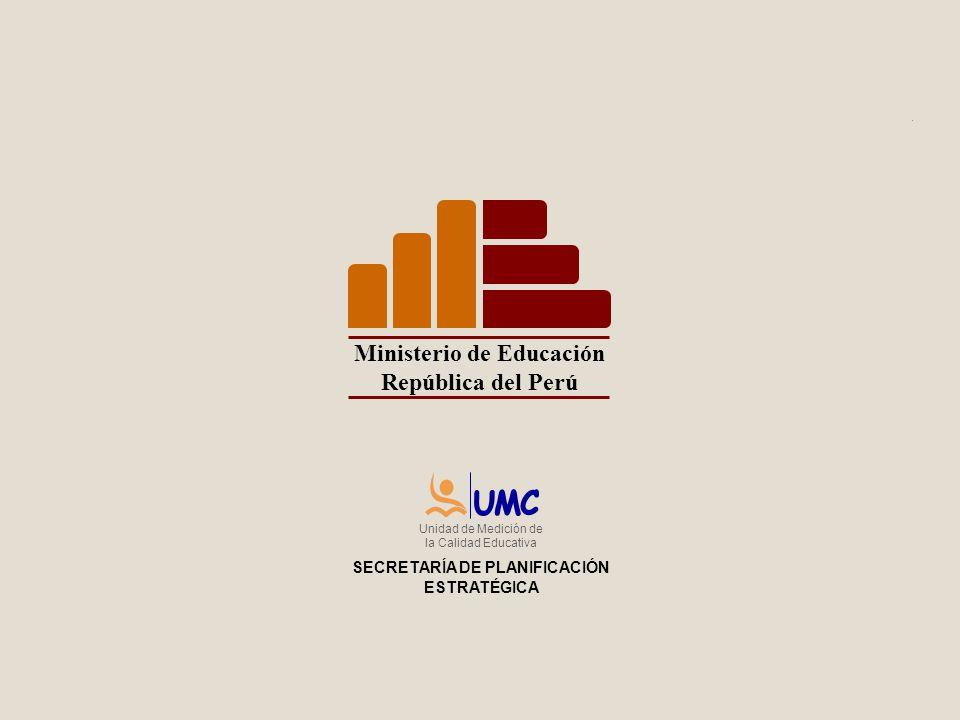 Ministerio de Educación SECRETARÍA DE PLANIFICACIÓN ESTRATÉGICA