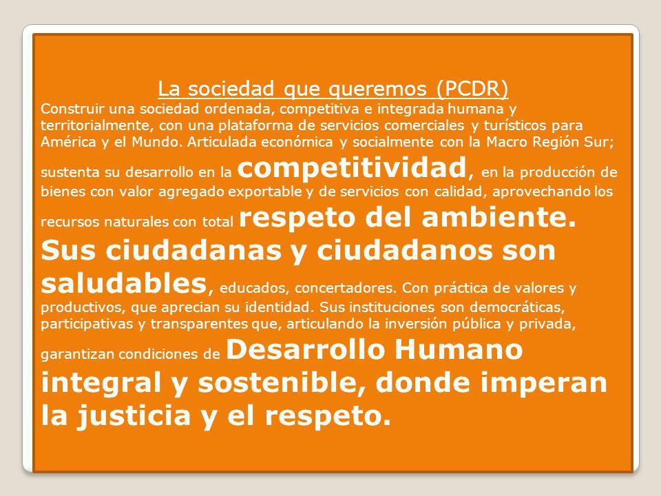 La sociedad que queremos (PCDR)