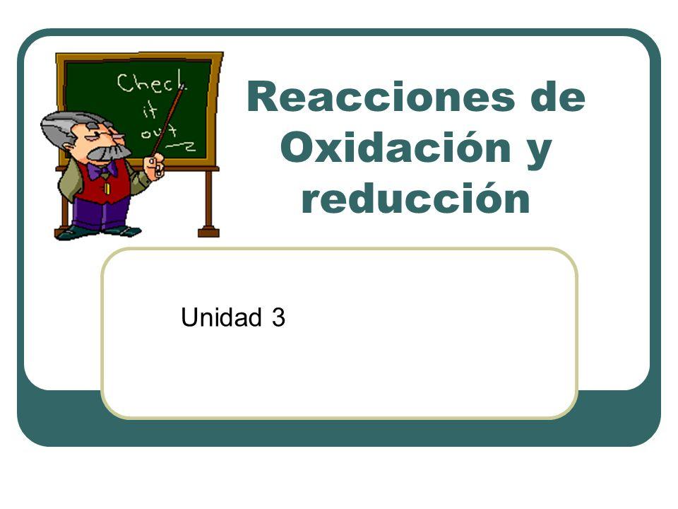 Reacciones de Oxidación y reducción