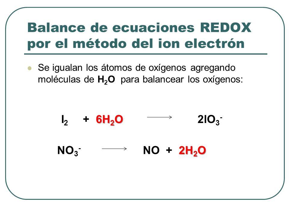 Balance de ecuaciones REDOX por el método del ion electrón