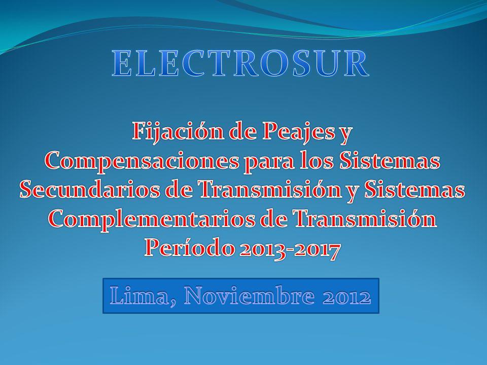ELECTROSUR Fijación de Peajes y Compensaciones para los Sistemas