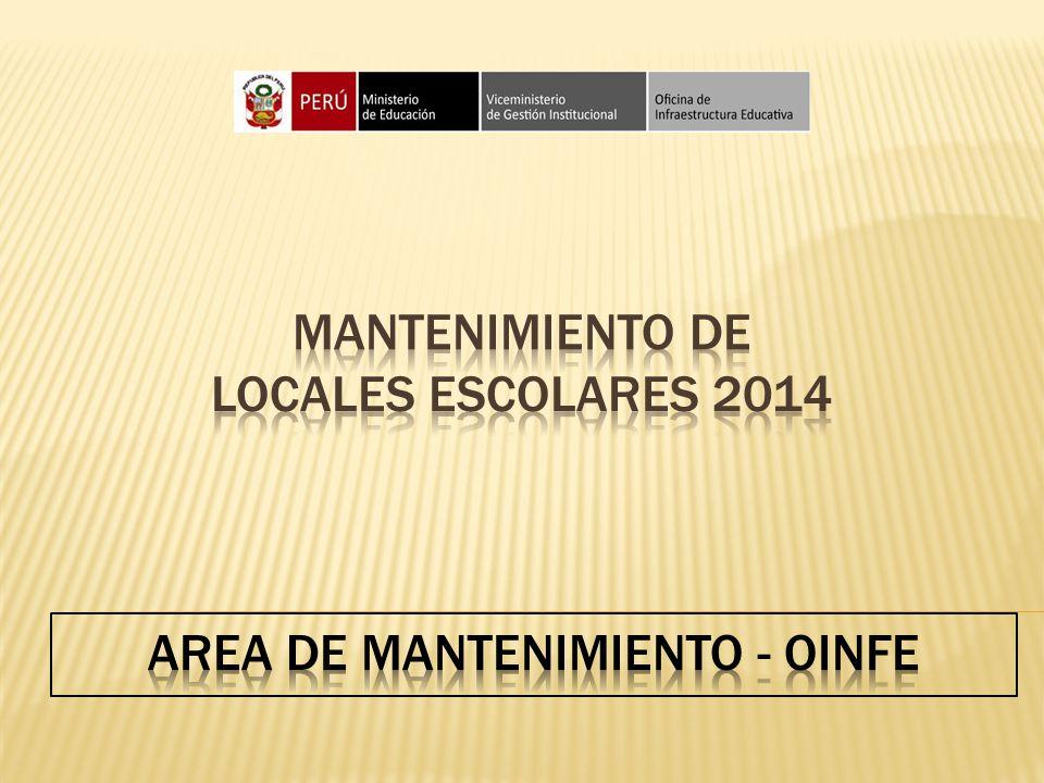 Mantenimiento de locales escolares 2014
