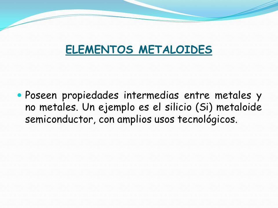 ELEMENTOS METALOIDES