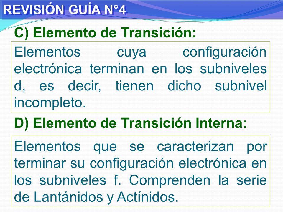 C) Elemento de Transición:
