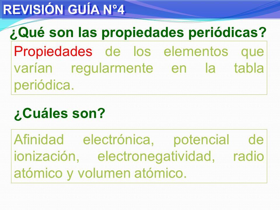 ¿Qué son las propiedades periódicas
