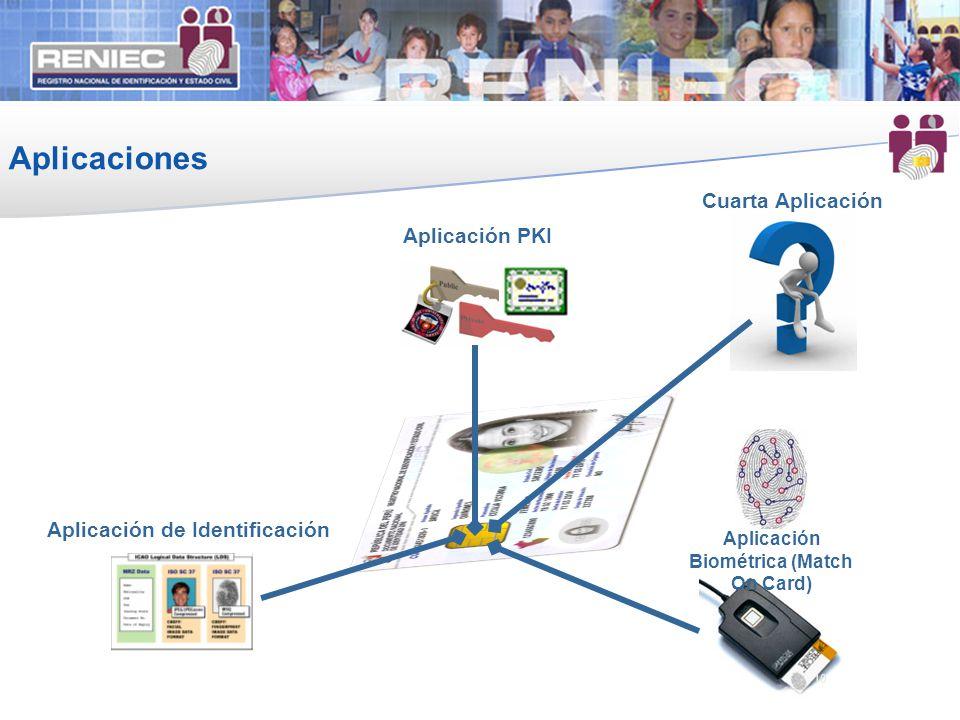 Aplicación Biométrica (Match On Card) Aplicación de Identificación