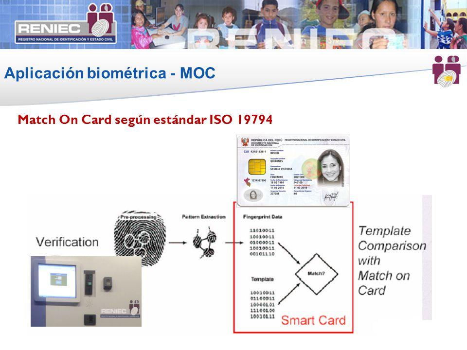 Aplicación biométrica - MOC