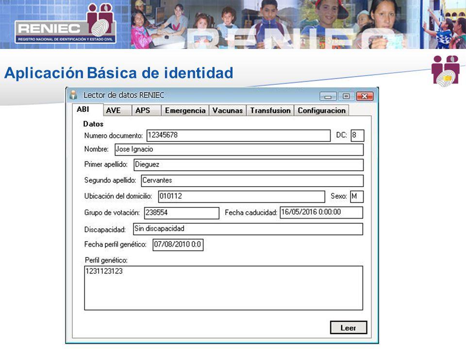 Aplicación Básica de identidad
