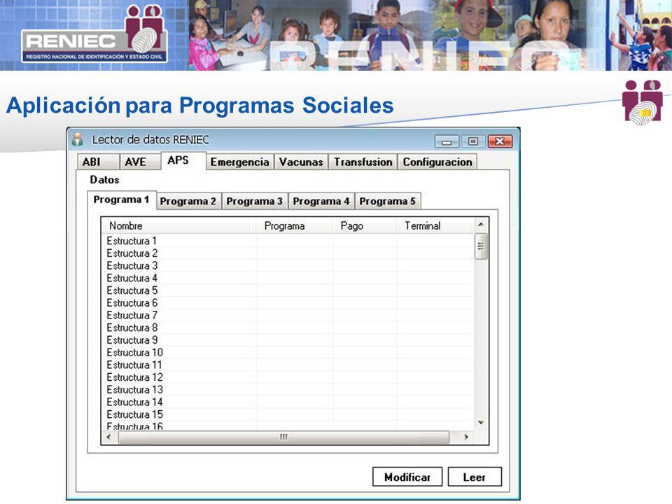 Aplicación para Programas Sociales