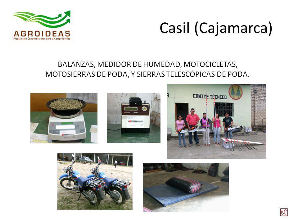 Casil (Cajamarca) BALANZAS, MEDIDOR DE HUMEDAD, MOTOCICLETAS, MOTOSIERRAS DE PODA, Y SIERRAS TELESCÓPICAS DE PODA.