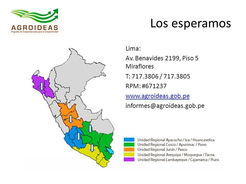 Los esperamos Lima: Av. Benavides 2199, Piso 5 Miraflores